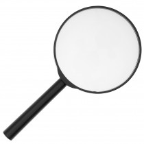Handheld Magnifying Glass - With 2 x Magnification - Lens Effective Diameter: 75 mm