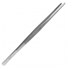 Kitchen Tweezers - Anatomical Forceps - Straight And Serrated Peak - Length: 11.8 Inches - Stainless Steel
